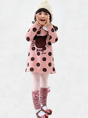 Girl Casual/Daily Polka Dot Blouse,Rayon Winter / Fall Long Sleeve