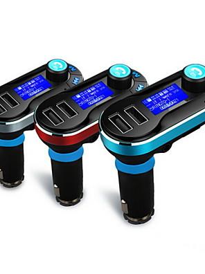 דיבוריות אלחוטי נגן MP3 משדר FM Bluetooth דיבורי לרכב עם טעינת 2.1 א כפולים usb, USB / SD תמיכה / aux-ב