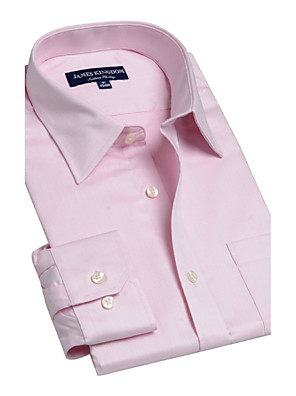JamesEarl Herre Krave Langt Ærme Shirt & bluse Orange-BA102040202