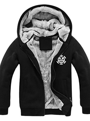 geinspireerd door One Piece Monkey D. Luffy Anime Cosplay Kostuums Cosplay Sweaters Print  Zwart Lange mouw Top