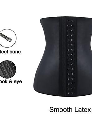 Burvogue Women's Smooth Latex 4 Steel Boned Waist Cincher Underbust Corset Girdle Body Shaper