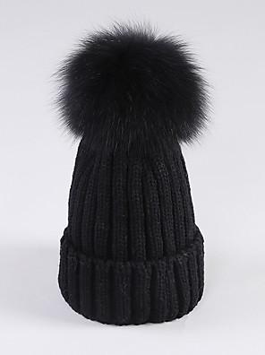 כובע צמר נשים חמוד / יום יומי,כותנה קיץ / חורף