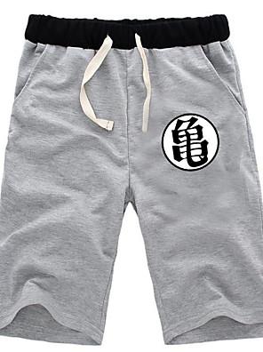קיבל השראה מ Dragon Ball Muten Roshi אנימה תחפושות קוספליי חולצות קוספליי / תחתון אחיד שחור / אפור מכנסיים קצרים