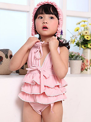 Girl's Summer Floral lace skirt Printing Swimming Two Parts Bathing Suitjavascript:;