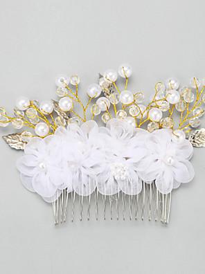 נשים / נערת פרחים סגסוגת / דמוי פנינה / שיפון כיסוי ראש-חתונה / אירוע מיוחד מסרקי שיער חלק 1