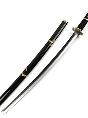 Zbraň Inspirovaný One Piece Roronoa Zoro Anime Cosplay Doplňky Zbraň Czarny Drewniany Pánský