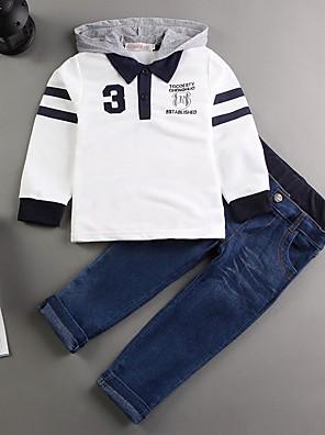 ג'ינס / סט של בגדים טלאים כותנה אביב / סתיו הילד של