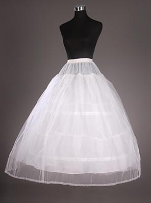Spodničky Plesový střih Po lýtka 2 Tyl / Taft Biały