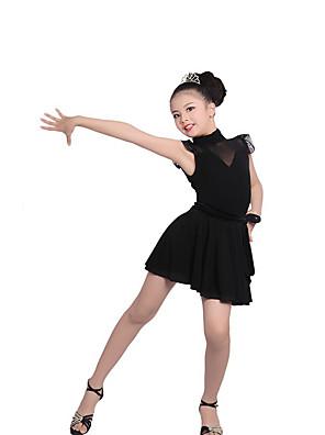 בלט תלבושות בגדי ריקוד ילדים ביצועים כותנה / קרפ Ruched 2 חלקים שרוול קצר טבעי חצאית / עליון 120:54cm,  130:56cm,   140:58cm,   150:60cm