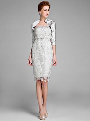 Lanting Bride® Pouzdrové Šaty pro matku nevěsty Ke kolenům 3/4 délka rukávu Krajka - Krajka