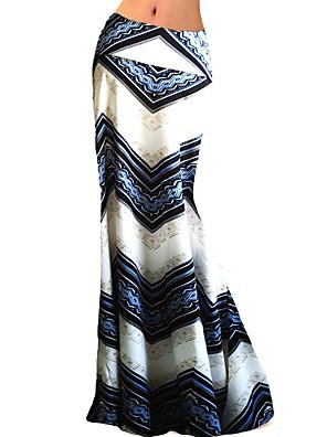Damen Röcke - Übergröße / Anspruchsvoll Maxi Polyester / Elasthan Dehnbar