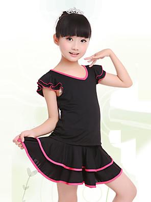 בלט תלבושות בגדי ריקוד ילדים אימון מילק פייבר Ruched 2 חלקים שרוול קצר טבעי חצאית / עליון100:50cm, 110:52cm, 120:54cm, 130:56cm,