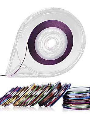 30colors striping tape line nail art wallstickers - fri tape rulle dispenser
