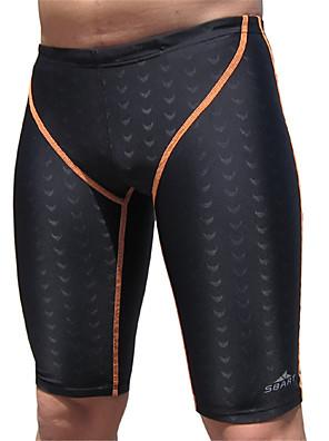 ספורטיבי לגברים בגדי ים נושם / חומרים קלים / דחיסה Bottoms בגדי ים כיסוי נוסף ויח' אחת מיתרים שחור שחור L / XL / XXL / XXXL