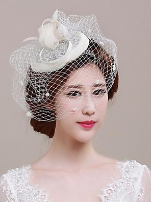 נשים טול / נצרים / רשת כיסוי ראש-חתונה / אירוע מיוחד / קז'ואל / חוץ קישוטי שיער חלק 1