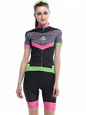 Esportivo Camisa com Shorts para Ciclismo Mulheres Manga Curta MotoRespirável / A Prova de Vento / Alta Respirabilidade (>15,001g) /