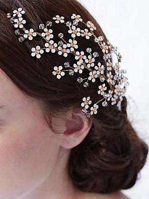 Ženy imitace drahokamu / Slitina / Imitace perly Přílba-Svatba / Zvláštní příležitost / Neformální Hřebeny na vlasy / Květiny / Saç Aracı