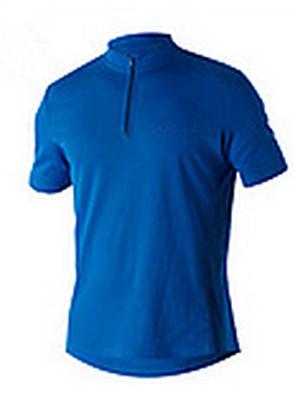Esportivo Camisa para Ciclismo Homens Manga Curta Moto Respirável / Confortável / Filtro Solar Blusas Algodão Clássico VerãoExercicio e