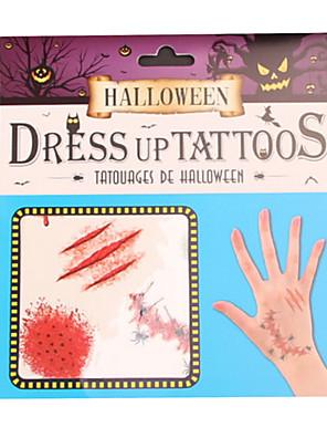 Halloween Props Zombie Festival/Svátek Halloweenské kostýmy Červená Tisk Více doplňků Halloween Unisex