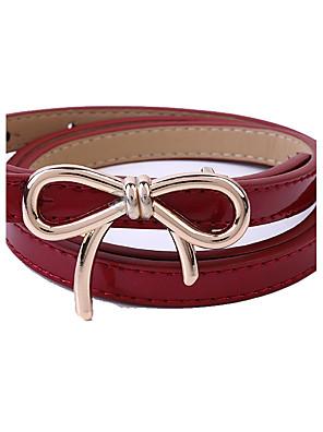 Feminino Cinto para a Cintura Casual Banhado a Ouro / Banhado a Prata / Liga Couro Ecológico Feminino
