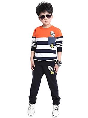 Boy's Cotton Spring/Autumn Sport Suit Boys Stripe Top And Pants Casual Sets Two-Piece Set