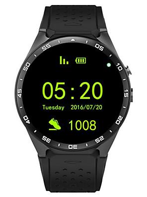 SmartWatch 3g kingwear w8 1,39 '' AMOLED-400 * 400 slimme horloge 3g bellen 2.0MP camera stappenteller hartslag