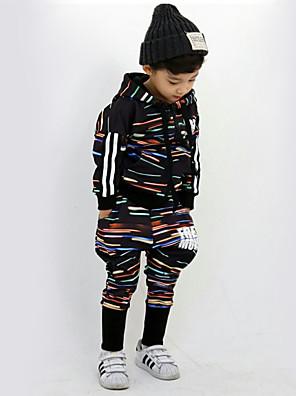 Boy's Cotton Spring/Autumn Fashion Hip-hop Print Tracksuit Long Sleeve Hoodie Coat And Hallen Pants Sport Suit