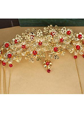 הינומות חתונה שכבה אחת כיסויי ראש עם הינומה חיתוך קצה סאטן זהב