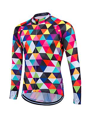 Fastcute® Camisa para Ciclismo Mulheres / Homens / Unissexo Manga Comprida MotoRespirável / Secagem Rápida / Zíper Frontal / Fecho YKK /