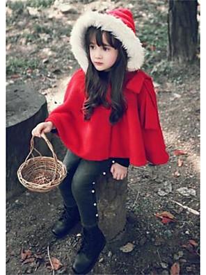ז'קט ומעיל יום יומי\קז'ואל אחיד כותנה חורף אדום הילדה של