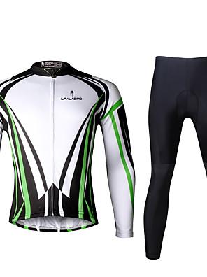 PALADIN® חולצה וטייץ לרכיבה לגברים שרוול ארוך אופנייםנושם / ייבוש מהיר / עמיד אולטרה סגול / דחיסה / חומרים קלים / 3D לוח / רצועות מחזירי
