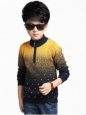 Boy's Cotton Jacket & Coat,All Seasons / Spring / Fall Color Block