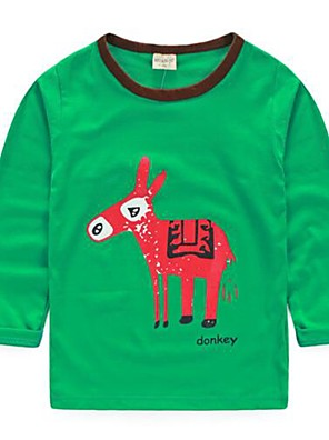 Boy's Casual/Daily Print TeeCotton Spring / Fall Blue / Green / Multi-color / Pink / Red