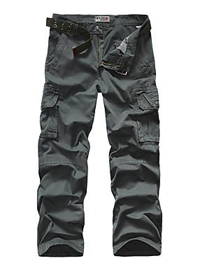 Men's Camouflage Casual / Sport Sweatpants,Cotton Black / Green / Orange / Gray