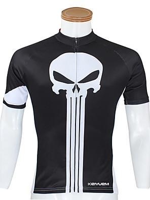KEIYUEM® Camisa para Ciclismo Mulheres / Homens / Unissexo Manga Curta MotoImpermeável / Respirável / Secagem Rápida / Design Anatômico /