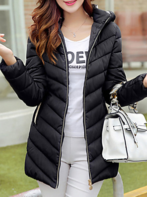 Women's Long Sleeve Parka Coat , Casual/Cute Others