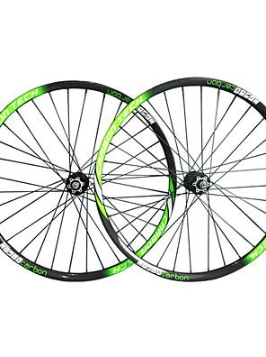 "Draadband-29""-Mountainbike-Wielsets(Zwart / Groen,Full Carbon)"