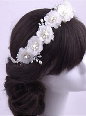 נשים דמוי פנינה / שיפון כיסוי ראש-חתונה / אירוע מיוחד סרטי ראש חלק 1