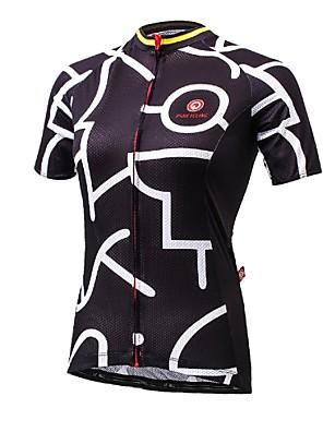 ספורטיבי חולצת ג'רסי לרכיבה לנשים שרוול קצר אופנייםנושם / ייבוש מהיר / עמיד אולטרה סגול / הגנה בפני קרינה / לביש / נגד חשמל סטטי / חדירות