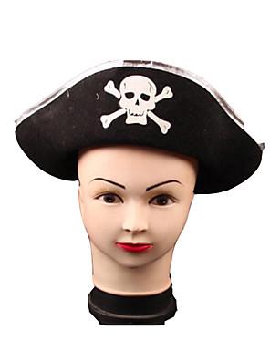 Klobouky Pirát Festival/Svátek Halloweenské kostýmy Černá Patchwork / Tisk Klobouk Halloween Unisex Netkaná textilie