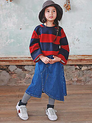 Girl's Casual/Daily Solid SkirtCotton Winter / Fall Blue