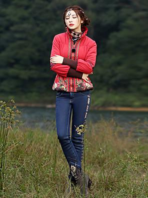 מיקרו-אלסטי - ג'ינסים - מכנסי נשים(כותנה / פוליאסטר)