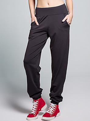 calças de yoga Calças Respirável / Sem Eletricidade Estática / Redutor de Suor Natural Stretchy Wear Sports Vermelho / Preto / roxo escuro