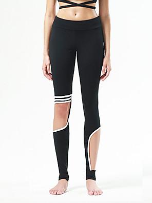 calças de yoga Meia-calça Respirável / Secagem Rápida / Redutor de Suor / Confortável Natural Stretchy Wear SportsAmarelo / Branco /