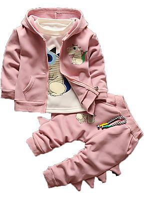 Boy's Casual/Daily Print Clothing SetCotton Winter Blue / Green / Pink / Purple