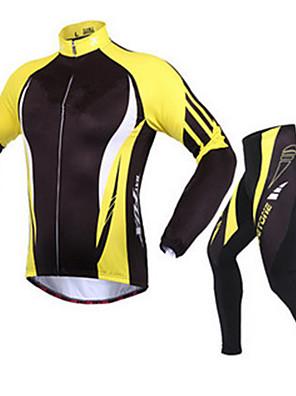 Esportivo Jaqueta com Calça para Ciclismo Homens Manga Comprida Moto Respirável / Mantenha Quente / Confortável / Filtro SolarConjuntos