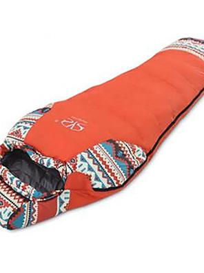 Saco de dormir Tipo Múmia Solteiro (L150 cm x C200 cm) -20℃~-15℃~0℃ Penas de Pato 1500g 190+30X80 Equitação / Campismo / Viajar / Interior