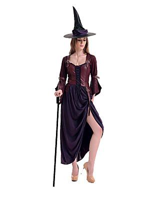 Fantasias de Cosplay / Festa a Fantasia Mago/Bruxa Festival/Celebração Trajes da Noite das Bruxas Roxo Patchwork Vestido / Mais Acessórios