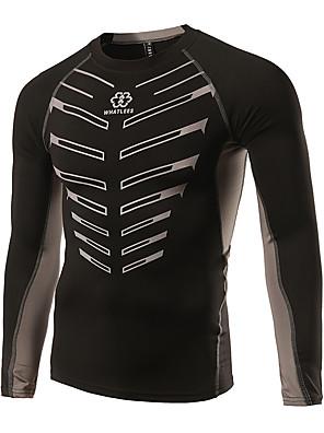 ספורטיבי חולצת ג'רסי לרכיבה לגברים שרוול ארוך אופניים ייבוש מהיר / חומרים קלים / מפחית שפשופים / חיכוך נמוך ג'רזי כותנה קלאסי / אופנתי