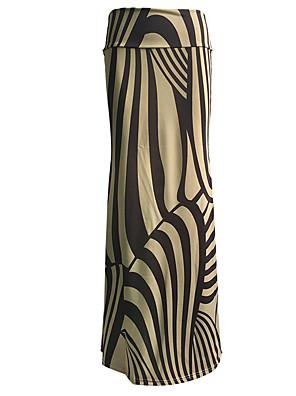Damen Röcke - Übergröße / Einfach Maxi Polyester / Elasthan Dehnbar